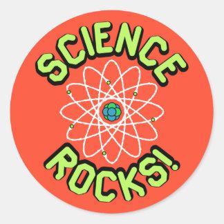 ¡Rocas de la ciencia! Pegatinas Pegatina Redonda