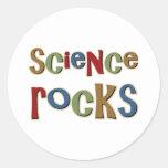 Rocas de la ciencia pegatinas redondas