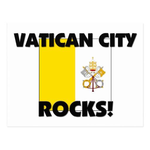 Rocas de la Ciudad del Vaticano Tarjeta Postal