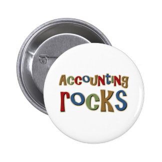 Rocas de la contabilidad pin redondo de 2 pulgadas