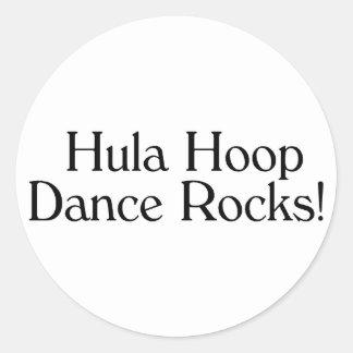 Rocas de la danza del aro de Hula Pegatina Redonda