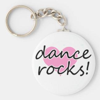 ¡Rocas de la danza! Llavero Redondo Tipo Pin