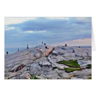 Rocas de la ensenada de Peggys Tarjeta De Felicitación