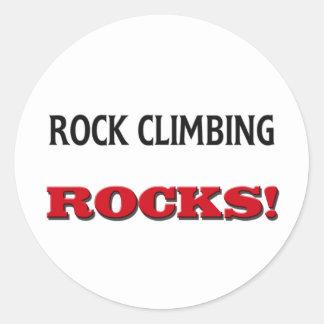 Rocas de la escalada etiquetas redondas