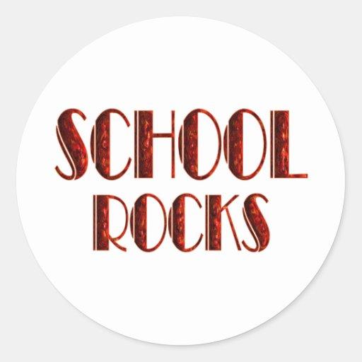 Rocas de la escuela pegatinas redondas