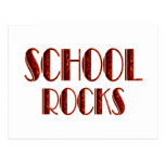 Rocas de la escuela postales