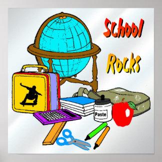 Rocas de la escuela - poster de las fuentes de esc