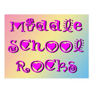 Rocas de la escuela secundaria - flores de los cor postal