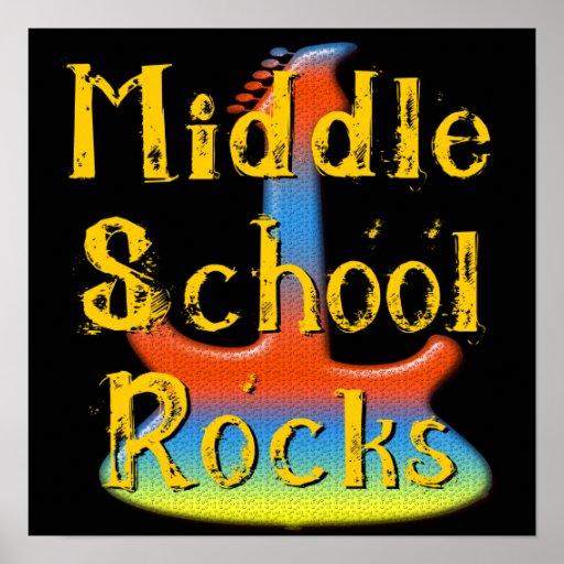 Rocas de la escuela secundaria - poster de la guit