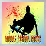 Rocas de la escuela secundaria - poster del skater
