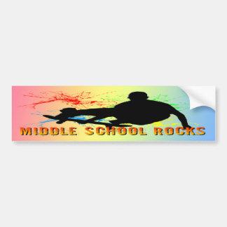 Rocas de la escuela secundaria - skater pegatina para auto