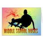 Rocas de la escuela secundaria - skater tarjetas