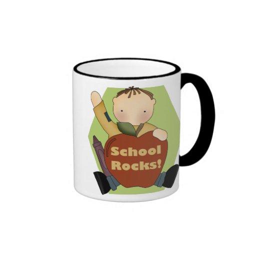 Rocas de la escuela taza de café