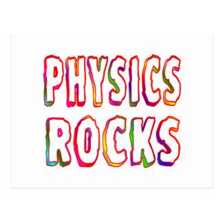 Rocas de la física tarjetas postales
