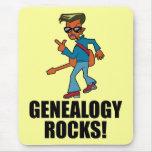 Rocas de la genealogía alfombrilla de ratón