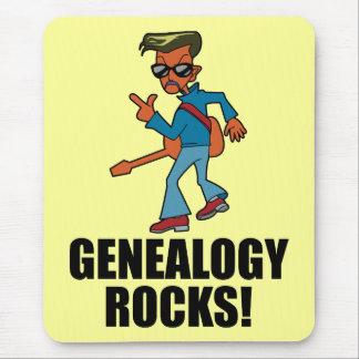 Rocas de la genealogía alfombrillas de ratones