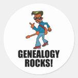 Rocas de la genealogía etiqueta redonda