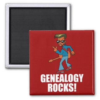 Rocas de la genealogía imán cuadrado
