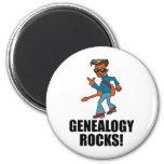 Rocas de la genealogía iman de nevera