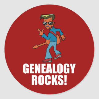 Rocas de la genealogía pegatina redonda