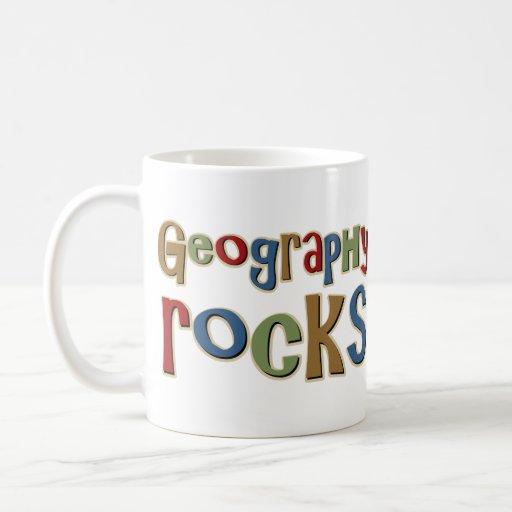 Rocas de la geografía taza de café