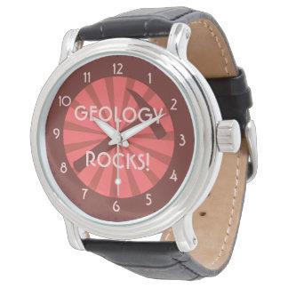 ¡Rocas de la geología! Insignia del martillo Reloj