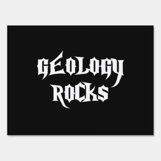 Rocas de la geología letrero