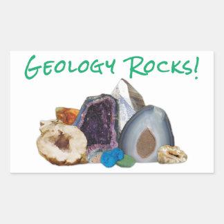 ¡Rocas de la geología! Pegatinas Rectangular Altavoz