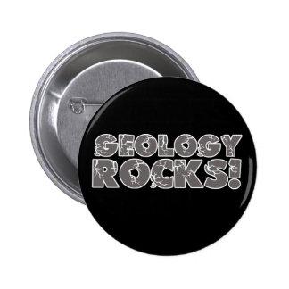 Rocas de la geología pin redondo de 2 pulgadas