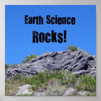 ¡Rocas de la geología! Póster