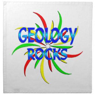 Rocas de la geología servilletas de papel