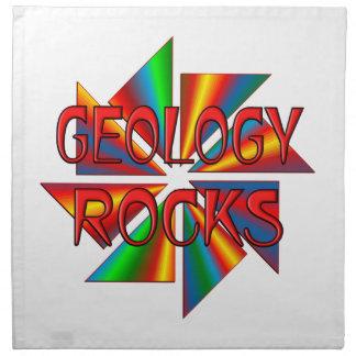 Rocas de la geología servilletas