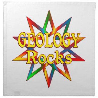 Rocas de la geología servilleta