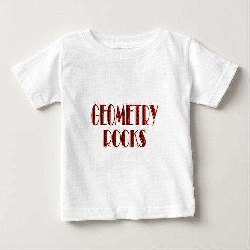 Rocas de la geometría camisetas
