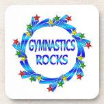 Rocas de la gimnasia posavasos de bebidas