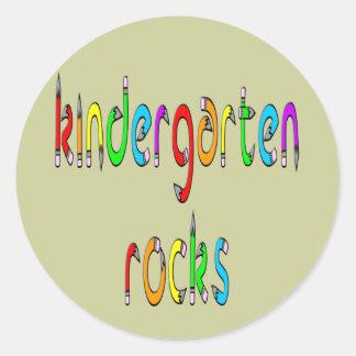 Rocas de la guardería - pegatinas redondos del pegatina redonda