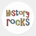 Rocas de la historia etiqueta redonda