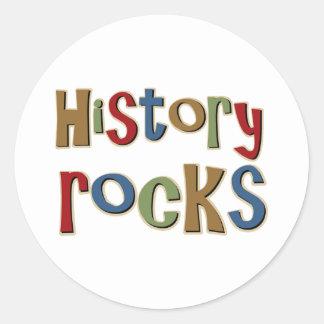 Rocas de la historia pegatina redonda