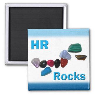 Rocas de la hora de los recursos humanos imán cuadrado