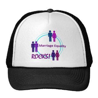 ¡ROCAS de la igualdad de la boda! Gorras De Camionero