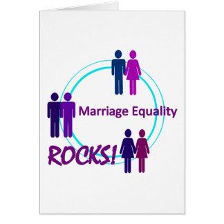 ¡ROCAS de la igualdad de la boda! Tarjeta De Felicitación