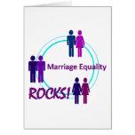 ¡ROCAS de la igualdad de la boda! Tarjeton