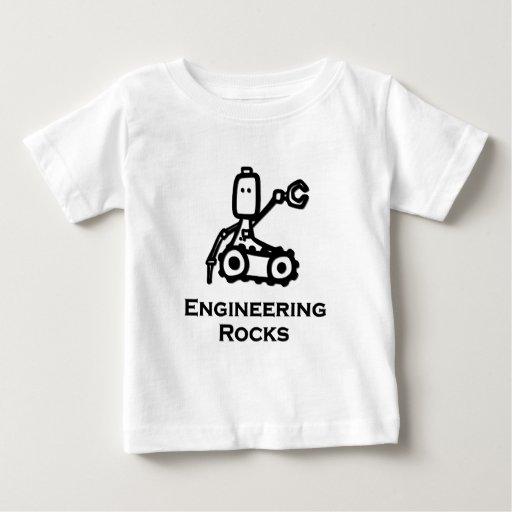 Rocas de la ingeniería del Bot del ingeniero Playera