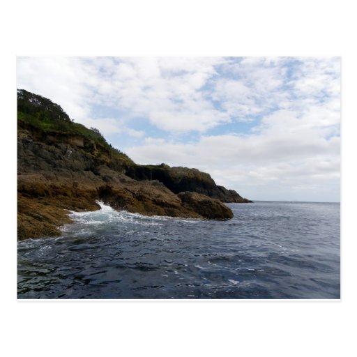 Rocas de la isla de la cabra tarjeta postal