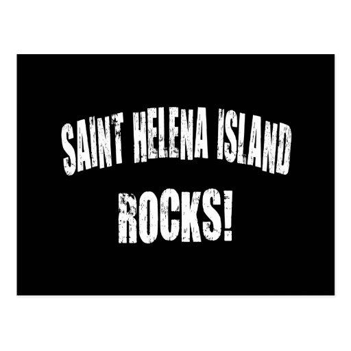 ¡Rocas de la isla de Santa Helena! Postal