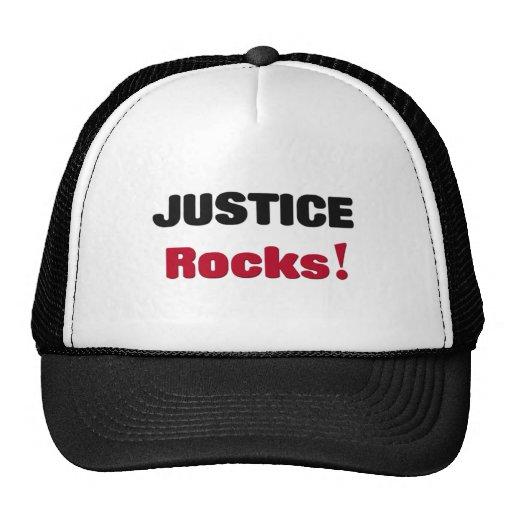 Rocas de la justicia gorros bordados