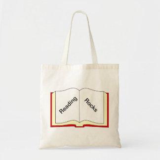 Rocas de la lectura bolsa tela barata