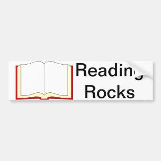 Rocas de la lectura pegatina para auto