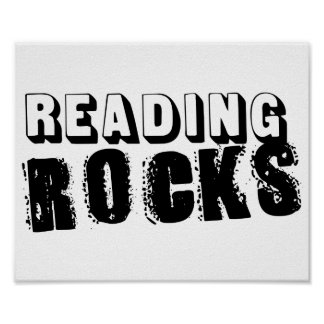 Rocas de la lectura póster