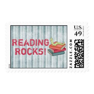 Rocas de la lectura sellos postales